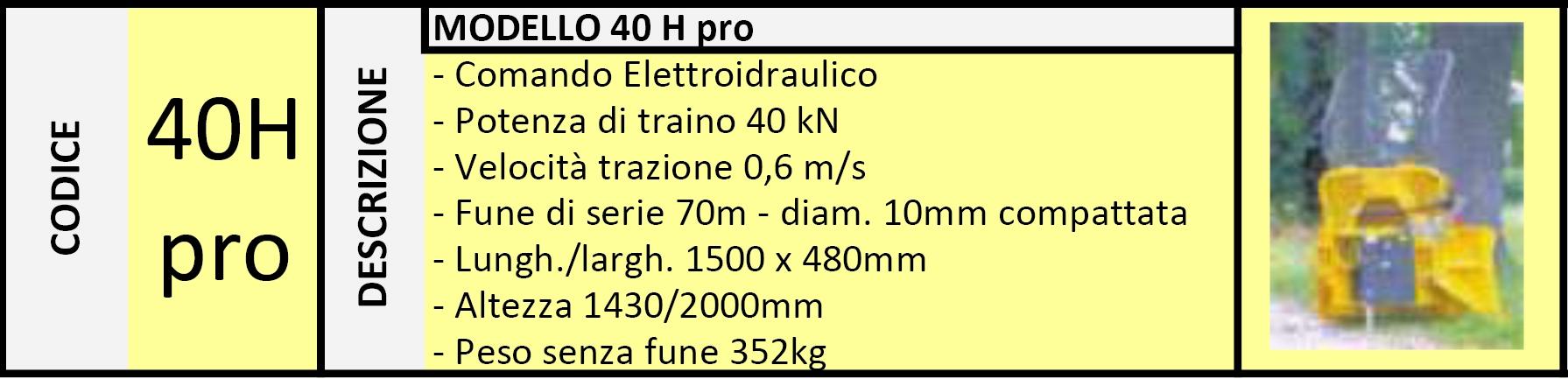Verricello Forestale 40H PRO