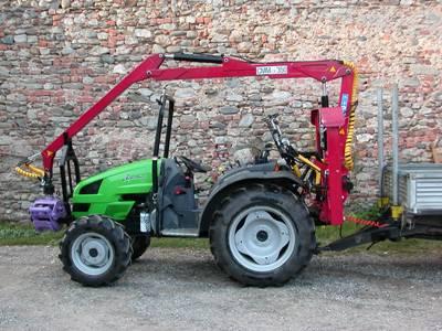 Rimorchio con gru per trattore for Lochmann rimorchi usati